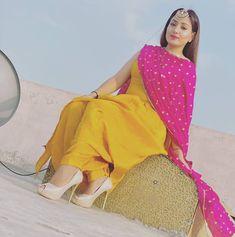 Yellow Punjabi Suit, Punjabi Suit Simple, Simple Indian Suits, Yellow Suit, Punjabi Salwar Suits, Salwar Kameez, Punjabi Suits Designer Boutique, Indian Designer Suits, Indian Wedding Gowns