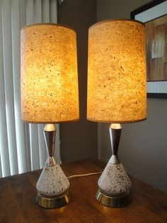 Mid Century Lamp Shades Pleasing Set Of 3 Mid Century Vintage Style Fiberglass Lamp Shades  Mid Design Decoration