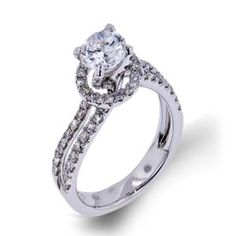 Shop online Arthurs Collection WRE-12027 Halo 18K - White Gold Diamond Engagement Ring at Arthur's Jewelers. Free Shipping