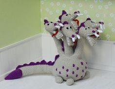 Dino Amigurumi Crochet Dragon by iasio.deviantart.com on @DeviantArt