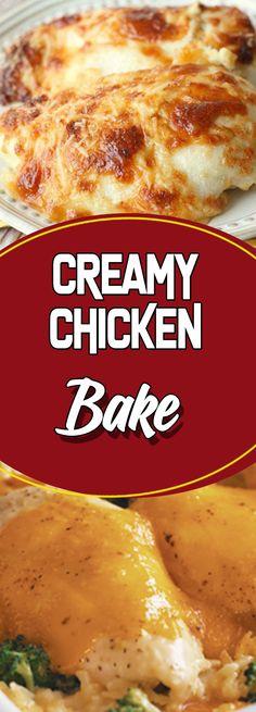 CREAMY CHICKEN BAKE #chicken #glutenfree #chickendinner #weightlossrecipes #chickens #chickenrecipes