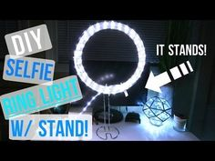 DIY INSTAGRAM SELFIE LIGHT W/ STAND!! - YouTube