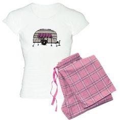 Vintage Airstream Camper Trailer Art Pajamas on CafePress.com