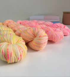 Sunshine Speckle fade kit - We Love Knitting - Hand Dyed Yarn