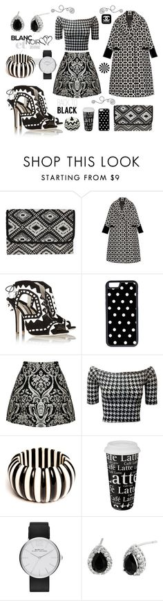 Back to black (and white) by aniri310 on Polyvore featuring Giles, Alice + Olivia, Sophia Webster, Boohoo, Marc Jacobs, CellPowerCases, Könitz and Chanel