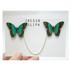 These butterfly collar clips are perfect for brightening up any collared shirt - simply pin one butterfly to each side of the collar for a super cute look.