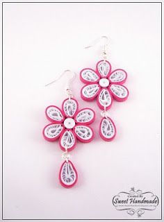 """• Sweet Handmade •: Quilling Earrings - """"Spring Flowers"""" Collection"""