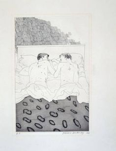 David Hockney 'Two Boys Aged 23 Or 24' (1966/67)