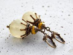 Ohrringe - Sonnengruß in Gelb von Perlenfontäne auf DaWanda.com