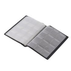 GOOD Commemorative Coin Collection Volume Empty Coin Folder Hold 120 Pieces Coins black - Intl