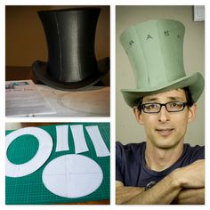 The cherry on top fabulous paper top hat tutorial and free template – Artofit Hat Tutorial, Cosplay Tutorial, Cosplay Diy, Steampunk Hut, Steampunk Top Hat, Mad Hatter Top Hat, Mad Hatter Tea, Mad Hatters, Crazy Hat Day