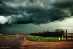 The birth of a funnel cloud near Cheyenne Wells, Colorado on 5-15-2015.