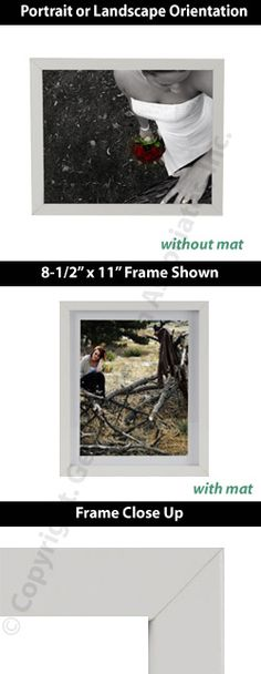 White Matted Picture Frame with Removable Matting