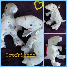 Dinosaur T-Rex babygro keepsake handmade in the UK by www.grofriends.co.uk #handmade #keepsake #baby #dinosaur