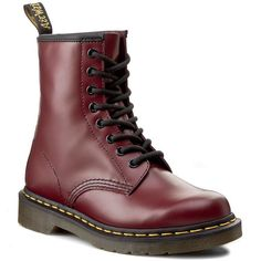 Glany DR. MARTENS - 1460 10072600 Cherry Red Smooth Dr Martens 1460, Cherry Red, Casual Looks, Combat Boots, Chic, Smooth, Shoes, Cherries, Campers