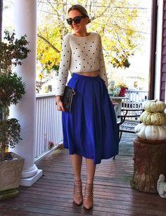 Jessica Buurman cobalt blue skirt