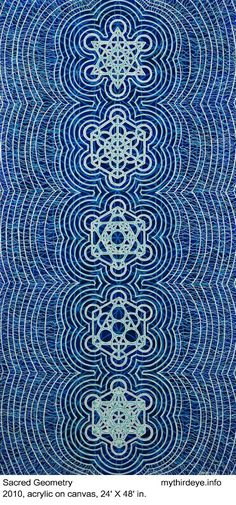 ❤~ Mandala ~❤ Δ~Geometría Sagrada~Δ Versions of Six. Love the blue! Geometry Pattern, Geometry Art, Sacred Geometry, Geometry Tattoo, Jamie Lee, Spirit Science, Foto Art, Flower Of Life, Sacred Art