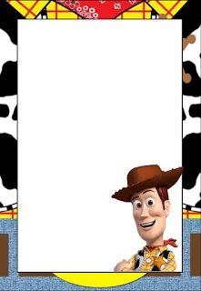 Toy Story: Free Printable Frames, Invitations or Cards.