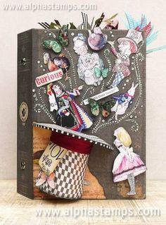 Alice In Wonderland Crafts, Alice In Wonderland Vintage, Alice In Wonderland Illustrations, Adventures In Wonderland, Libros Pop-up, Pop Up Art, Creation Deco, Mad Hatter Tea, Handmade Books