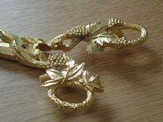 MIRELLA OF ENGLAND BOXED PAIR OF VINTAGE GILDED GRAPE GOLD SHEARS SCISSORS | eBay