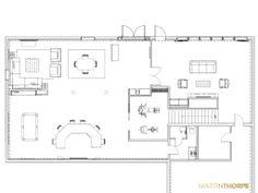 Vintage Basement Remodel Proposal Floor Plan 2013