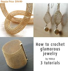Easter SALE How to wire crochet glamorous jewelry by Yoola
