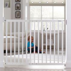 fc19a6d5952 Lindam traphek - Uitschuifbaar houten traphekje wit