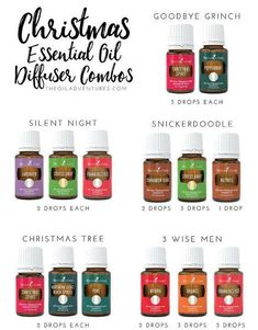 Essential Oil Diffuser Ideas | Christmas Ideas | Holiday Ideas | Scents of the Season | Silent Night | Snickerdoodle | Christmas Tree | 3 Wise Men | The Grinch