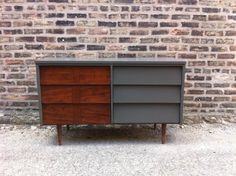 Vintage Mid Century Dresser In Seal Gray by minthome on Etsy, $325.00