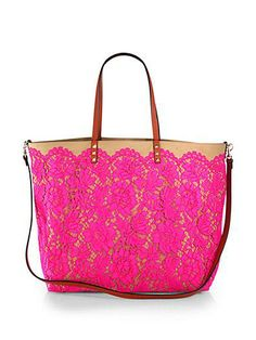 Romantic pink lace makes this Valentino the it-bag for spring!