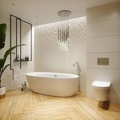 Flur Design, Washroom, Cozy House, Home Goods, Sweet Home, Bathtub, House Design, Flooring, Interior Design