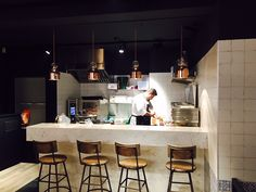 New opening of Fetch Restaurant in Gent, Belgium. Our pendant lamps Memoria with coppered glass, lights up this venue, that offers a new and authentic kitchen for food lovers that serves handmade quality food. Memoria by Evi Style, design Dima Loginoff.