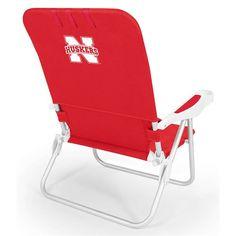 Picnic Time 790-00 Monaco University of Nebraska Cornhuskers Digital Beach Chair