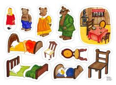 Goldilocks and 3 Bears Felt Stories, Stories For Kids, Sorting Activities, Activities For Kids, Phonics Flashcards, Story Sack, Alphabet Sounds, Goldilocks And The Three Bears, Paper Puppets