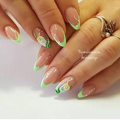 Great Ideas For Holiday Nails – NaiLovely Pretty Nail Art, Cute Nail Art, Cute Nails, Neon Nail Art, Neon Nails, Nail Designs Spring, Nail Art Designs, Spring Nails, Summer Nails