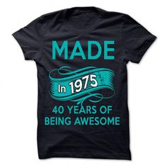 Made in 1975 - 40 Year Of Being Awesome - #tshirt dress #disney hoodie. GET YOURS => https://www.sunfrog.com/LifeStyle/Made-in-1975-40-Year-Of-Being-Awesome-NavyBlue-49785405-Guys.html?68278