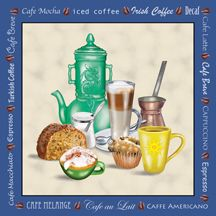Arte del café por el pintor señalado Rosiland Salomón.