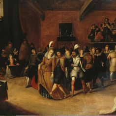 Ball by Hieronymus II Francken. Painting, Oil on panel, cm. Origin: Flanders, Source of entry: Acquired before School: Flemish. History Of Dance, Renaissance Music, Dance Of Death, Hermitage Museum, 16th Century, Macabre, Middle Ages, Photo Art, Artwork
