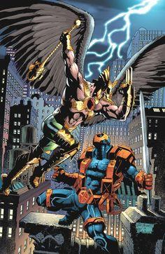 Hawkman vs Deathstroke by Joe Bennett  Art Thibert