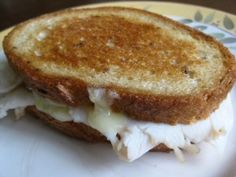 Turkey, Brie, and Pear-Apple Butter Grilled Cheese Sandwich