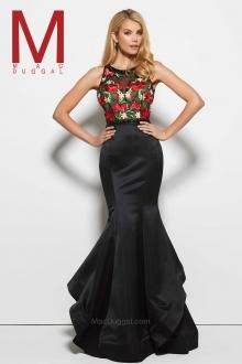 7d1e0c09f9 Feel enchanting with the Spring 2016 Mac Duggal Prom Dress Collections.  Black floral