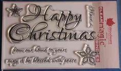 NEW Woodware 'Script Happy Christmas' Clear Stamps FRS297 | eBay