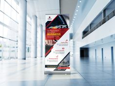 Triangle Business Roll Up Banner Corporate Identity, Print Templates, Triangle, Banner, Business, Card Templates Printable, Banner Stands, Store, Branding