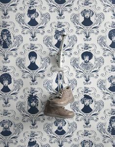 The Tillsammans collection of wallpaper, textiles, & posters exclusively for Save The Children designed by Swedish designer Lisa Bengtsson Print Wallpaper, Pattern Wallpaper, Wallpaper Decor, Toile Wallpaper, Bathroom Wallpaper, Dog Milk, How To Roll Towels, Dachshund Love, Funny Dachshund