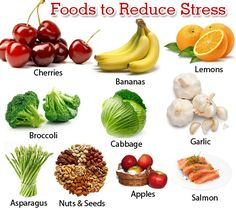 anti-stress foods. Need this for the ACT this weekend