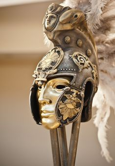 Helmet Mask Roman Gladiator Helmet Ancient by BirdArtBulgaria