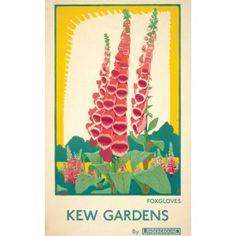 Kew Foxglove Tea Towel