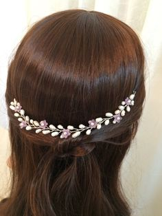 Wedding headpiece bridal hair accessories pearl by FlowerRainbow