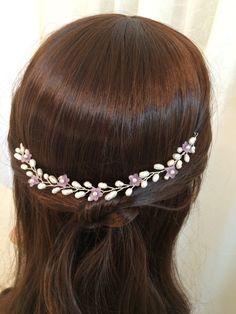 Wedding headpiece bridal hair accessories pearl by FlowerRainbow