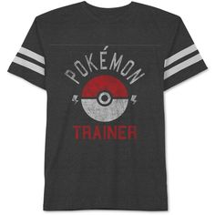 Jem Men's Pokemon Trainer Graphic-Print T-Shirt (33 BRL) ❤ liked on Polyvore featuring men's fashion, men's clothing, men's shirts, men's t-shirts, men, shirts, heather charcoal, mens crew neck t shirts, mens graphic t shirts and j crew mens shirts